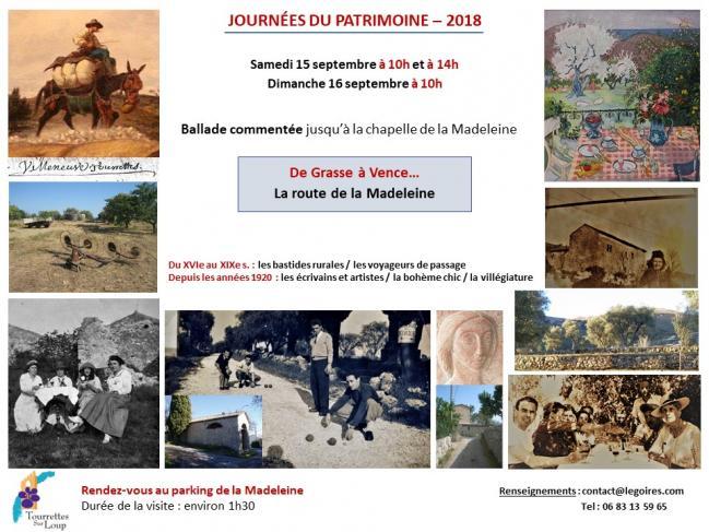 Journees du patrimoine la route de la madeleine 1